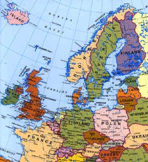 karta norra europa Kron karta norra europa